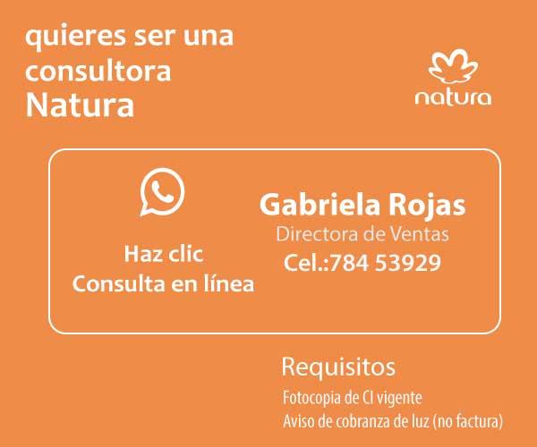 consultora natura Gabriela Rojas